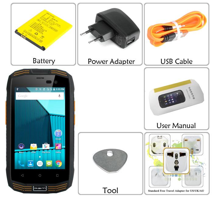 Agm A2 Rugged Smartphone 4 Inch Screen Ip68 Android 5 1 4g Bluetooth 0 2gb Ram 16gb Memory Cvafl M911